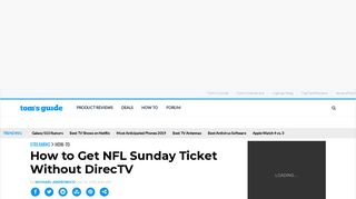 How to Get NFL Sunday Ticket Without DirecTV - Tom's Guide