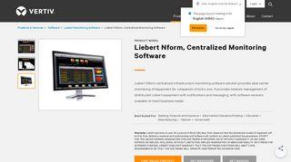 Liebert Nform Monitoring Software | Vertiv Data Center