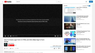 How To Create Login Form In HTML and CSS | Make Sign In Form ...
