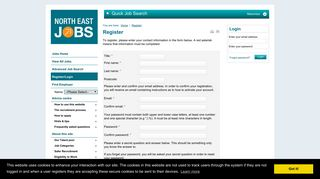 Register/Login - North East Jobs