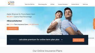 Life Insurance Policies - Life Insurance Plans   Max Life