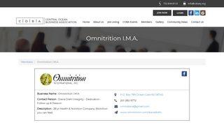 Omnitrition I.M.A. | Members - Central Ocean Business Associates