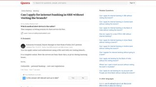 Can I apply for internet banking in SBH without visiting the ...