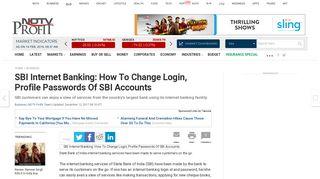 SBI Internet Banking: How To Change Login, Profile Passwords Of SBI ...