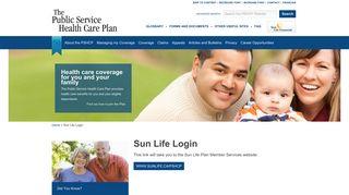 Sun Life Login - Public Service Health Care Plan