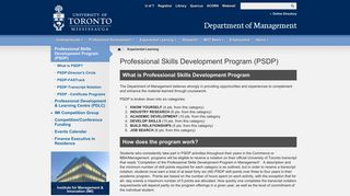 Professional Skills Development Program (PSDP)   Department of ...