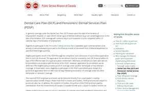 Dental Care Plan (DCP) and Pensioners' Dental Services Plan (PDSP)