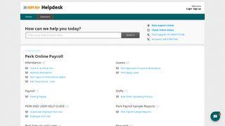 Perk Online Payroll : Helpdesk