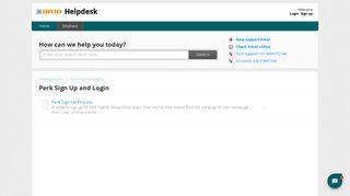 Perk Sign Up and Login : Helpdesk