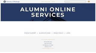 Pitt Alumni Online Services - Login