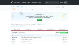 GitHub - psforever/PSF-LoginServer: Emulated PlanetSide 1 login ...