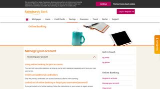 Online Banking | Managing Your Account - Sainsbury's Bank