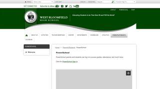 PowerSchool / Welcome - West Bloomfield School District