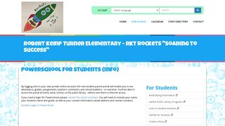 PowerSchool for Students (Info)   Robert Kemp Turner Elementary