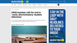 HRSB member calls for end to 'racist, discriminatory' student ...