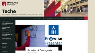 Prowise: A Quickguide - teche