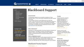 Blackboard Support - Queensborough Community College - CUNY.edu