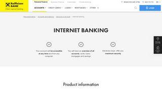 Internet banking | raiffeisenbank