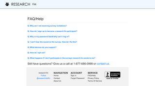 research.fm - Help/FAQ