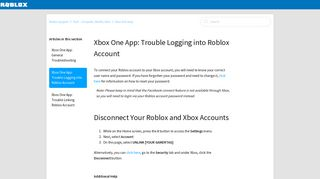 Xbox One App: Trouble Logging into Roblox Account – Roblox Support