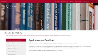Applications and Deadlines | Rutgers School of Social Work