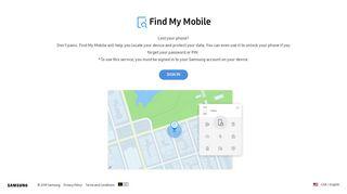 Find My Mobile - Samsung