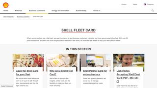 Shell Fleet Card   Shell Philippines