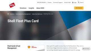 Shell Fleet Plus Card   Fleet Cards & Fuel Management   Solutions ...