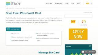 Shell Fleet Plus Credit Card - Credit Card Insider