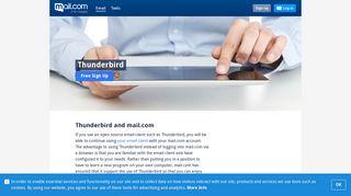 Thunderbird and mail.com