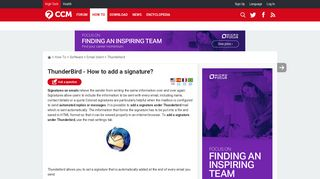 ThunderBird - How to add a signature? - Ccm.net