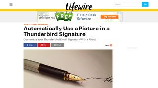 Add an Image to Your Mozilla Thunderbird Signature - Lifewire