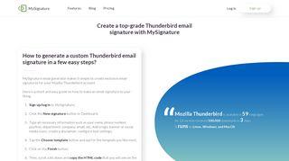 Create a top-grade Thunderbird email signature with MySignature