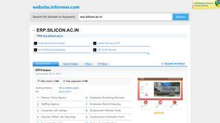 erp.silicon.ac.in at Website Informer. ESTCampus. Visit Erp Silicon.