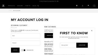 Log In | Sign Up - Anastasia Beverly Hills