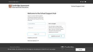 School Support Hub :: Login