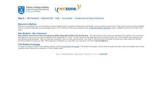 MyZone Home - Trinity College Dublin