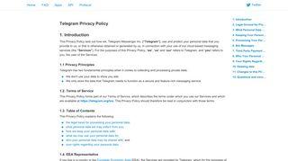 Telegram Privacy Policy - Telegram Messenger