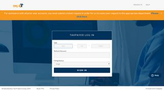 Log In - TPG Taxpayer Info