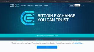 Bitcoin Exchange | Bitcoin Trading - CEX.IO