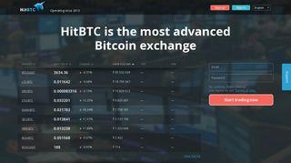Bitcoin Exchange: Bitcoin, Ethereum, Monero, Zcash / HitBTC