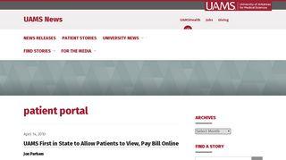 patient portal   UAMS News