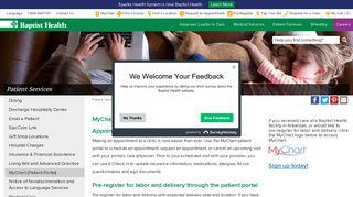 MyChart (Patient Portal)   Baptist Health