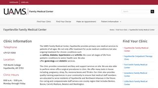 Fayetteville Family Medical Center - UAMS Family Medical Centers