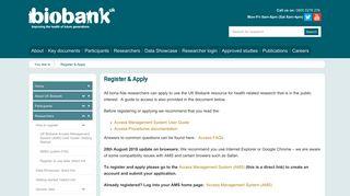 Register & Apply | UK Biobank