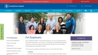 For Employees   UnityPoint Health - Des Moines