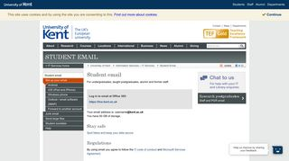 Student email - Student Email - University of Kent