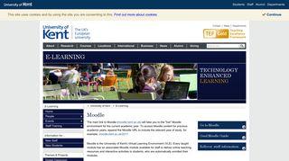 Moodle - E-Learning - University of Kent