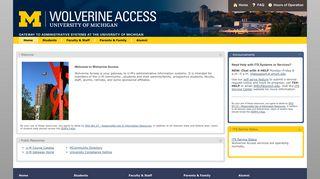 Wolverine Access: Home - University of Michigan