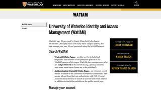 Home   WatIAM   University of Waterloo
